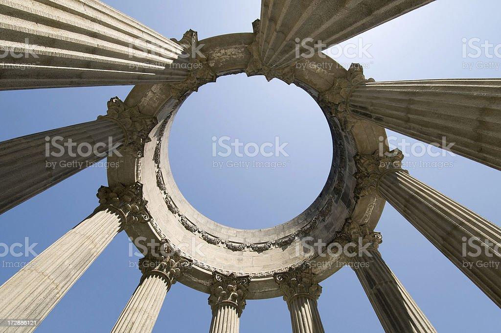 Abstract Grecian Style Ruin royalty-free stock photo
