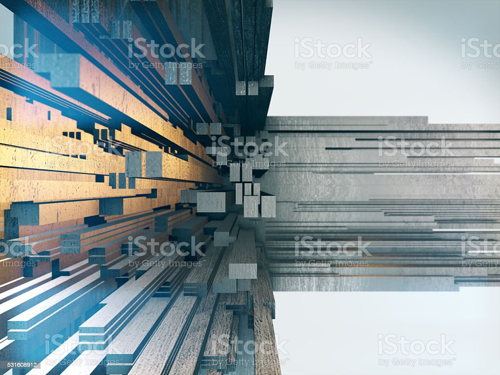 Abstract greeble.Abstract space background. stock photo
