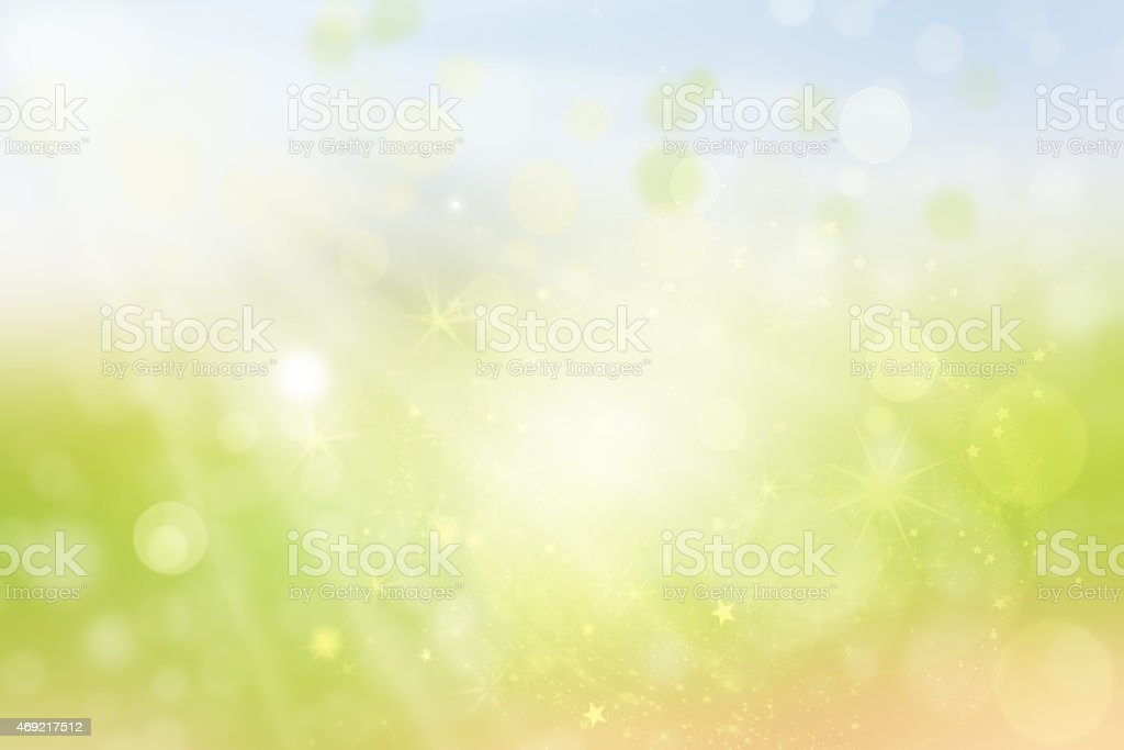 Abstract green background with sun rays stock photo