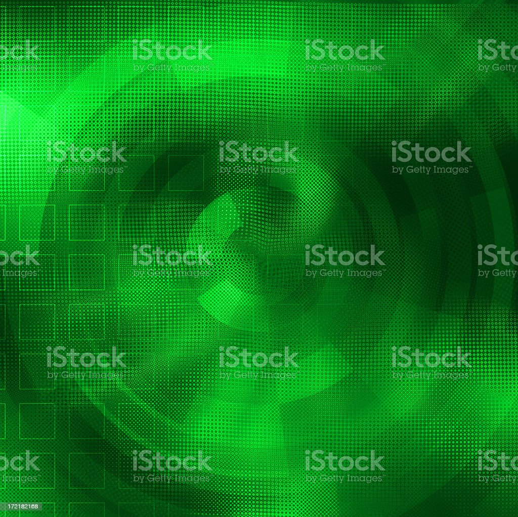 Abstract green gradient circular background royalty-free stock photo