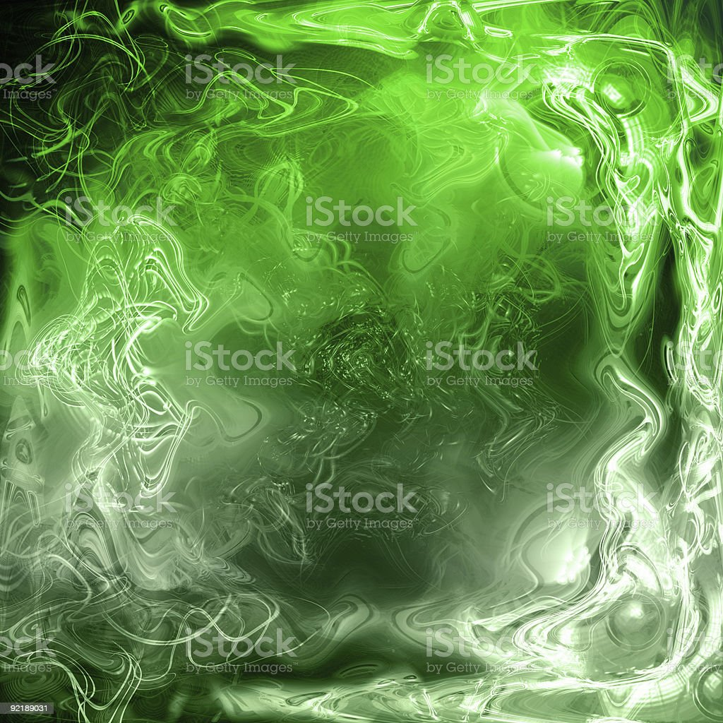 abstract green plasma fluid royalty-free stock photo