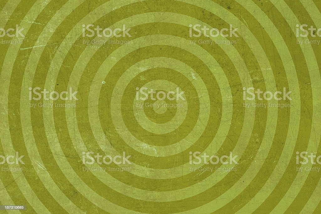 Abstract Green Washed-out bullseye Target Background royalty-free stock photo