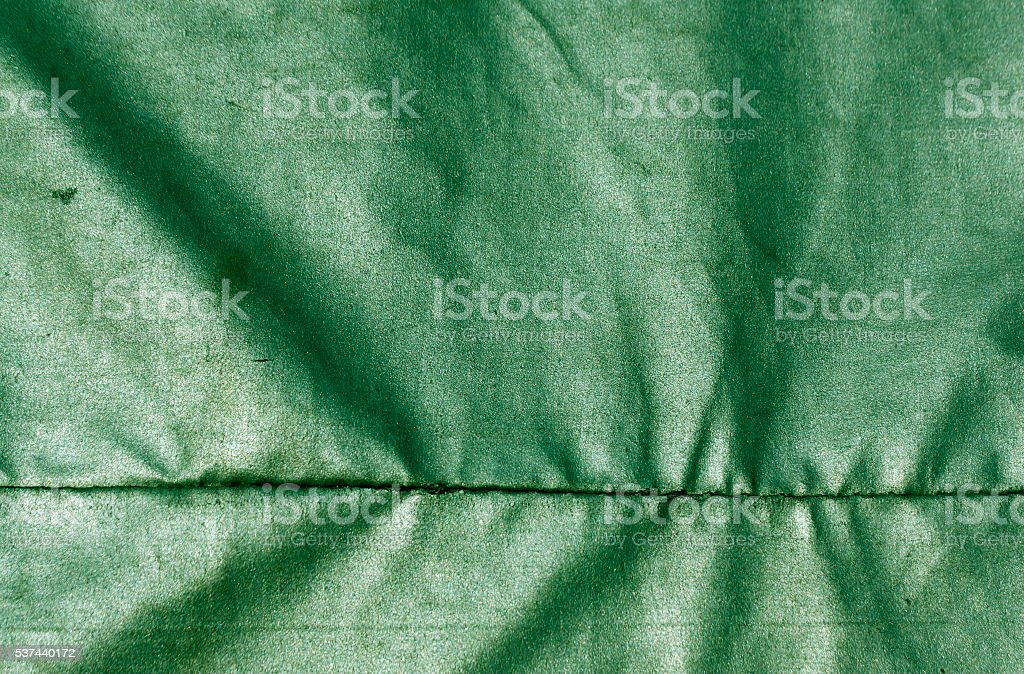 Abstract green waterproof textile texture. stock photo