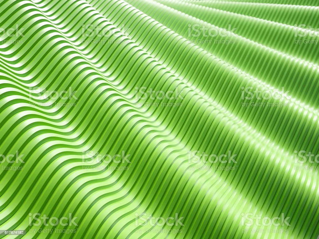 Abstract green wave lines background stock photo