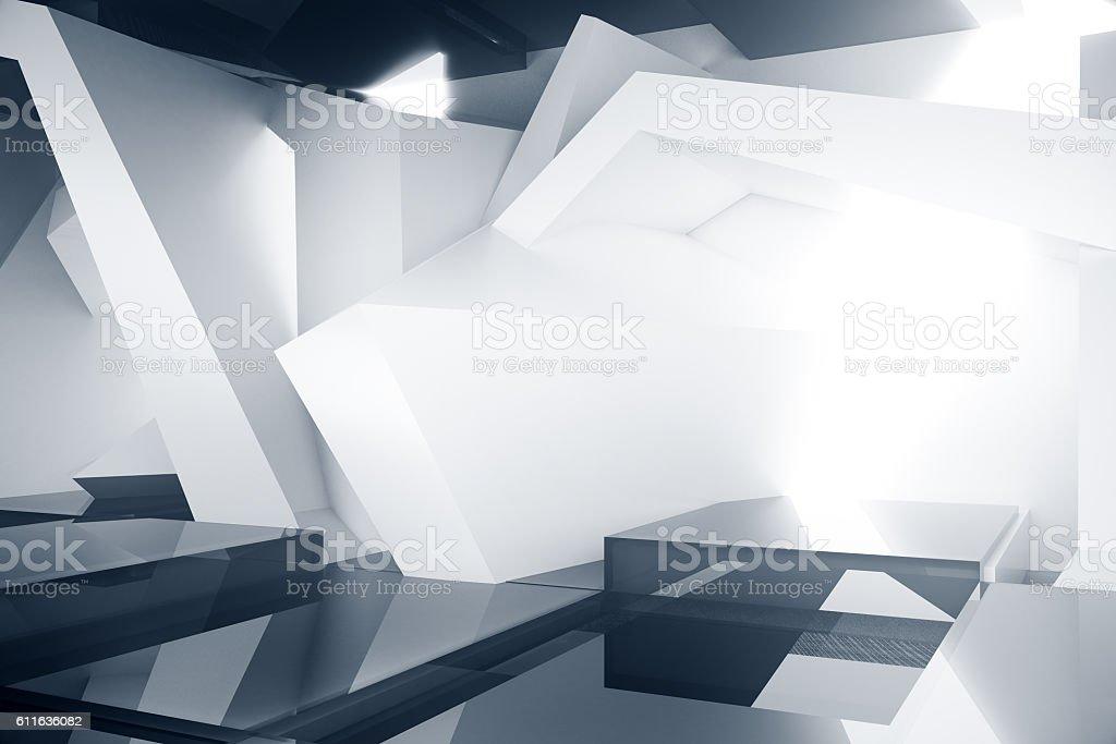 Abstract grey interior stock photo