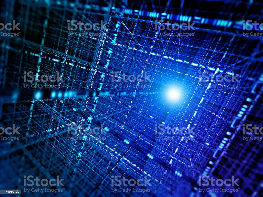 Abstract grid computing / cyber data storage concept royalty-free stock photo