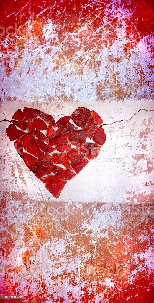 abstract grunge heart, 'Hard Love' royalty-free stock photo