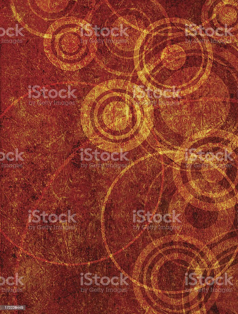 Abstract Grunge Illustrated Background With Circles stock photo