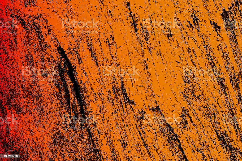 Abstract Grunge Orange Wall Background vector art illustration