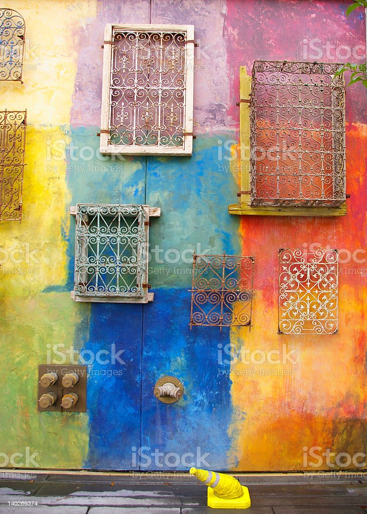 Abstract, grunge painted wall royalty-free stock photo