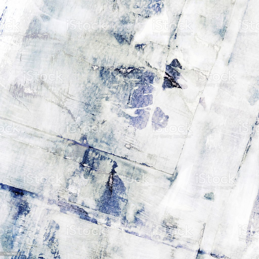 Abstract grunge painting with scratched collage paper texture royalty-free stock photo