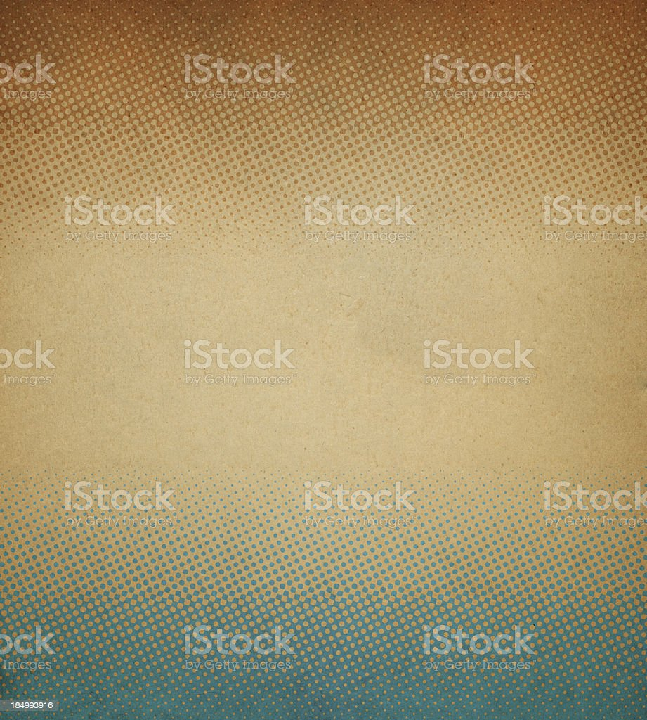 Abstract halftone pattern on stained antique paper royalty-free stock photo