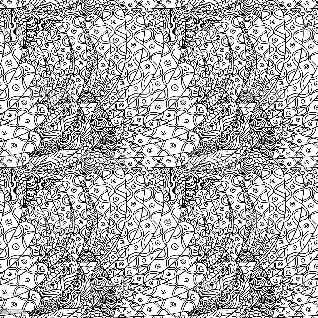abstract hand drawn seamless background pattern stock photo