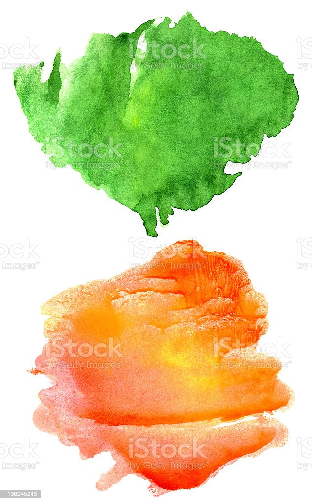 Abstract hand drawn watercolor background royalty-free stock vector art