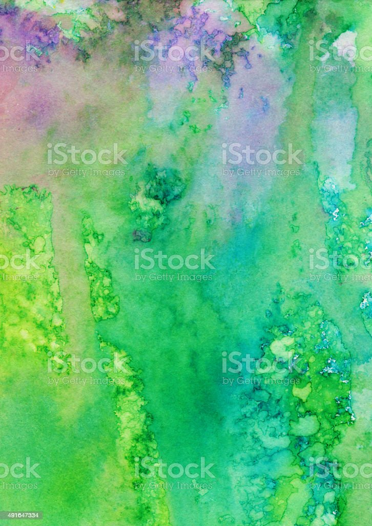 Abstract hand painted background with multiple colors vector art illustration