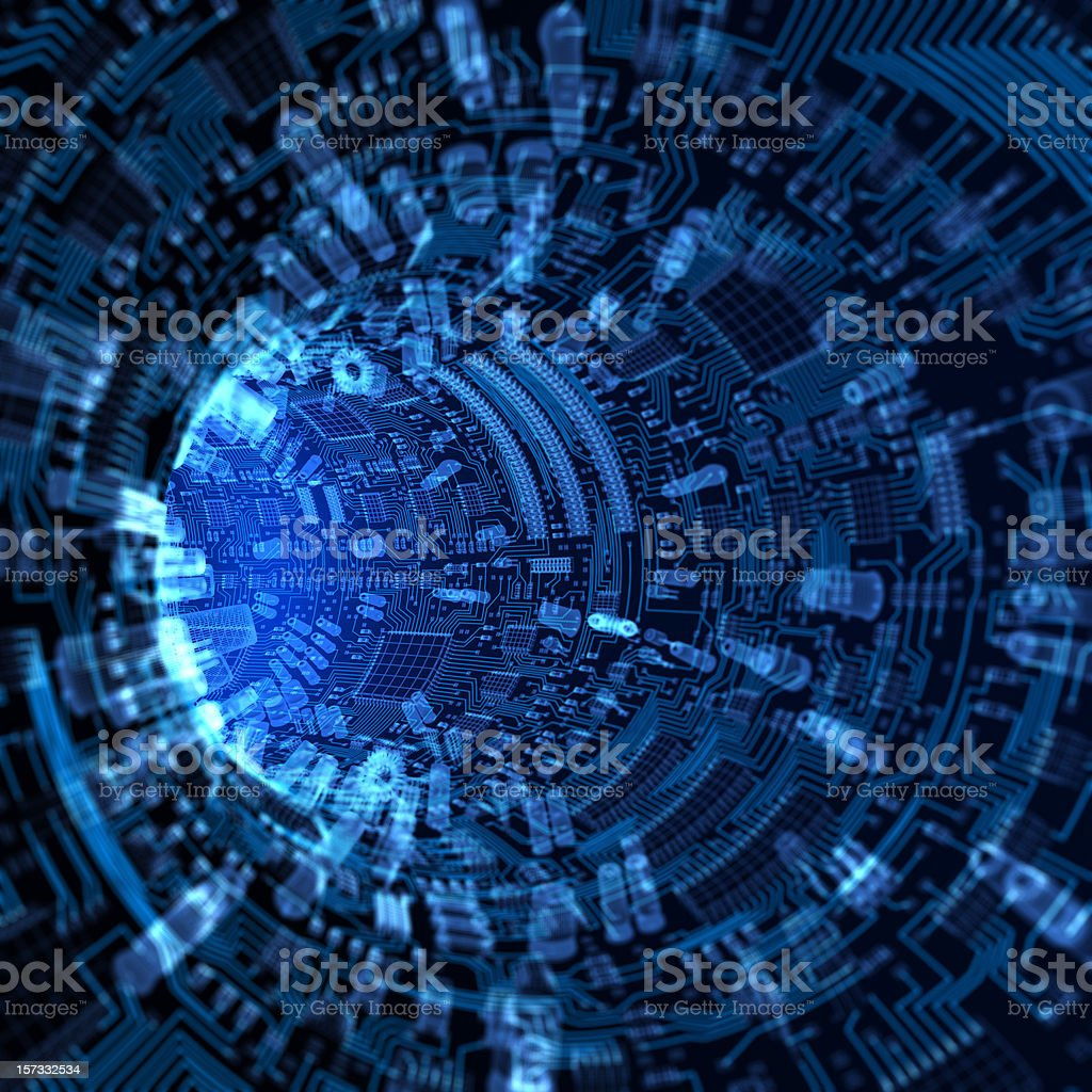 Abstract hardware tunnel stock photo