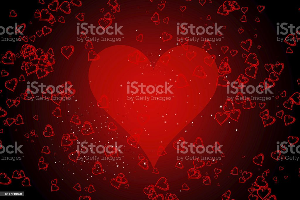 abstract heart background royalty-free stock photo