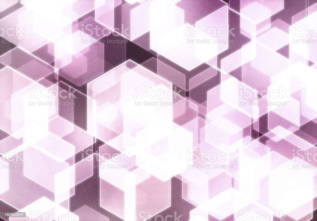 abstract hexagonal lights illustration background royalty-free stock photo