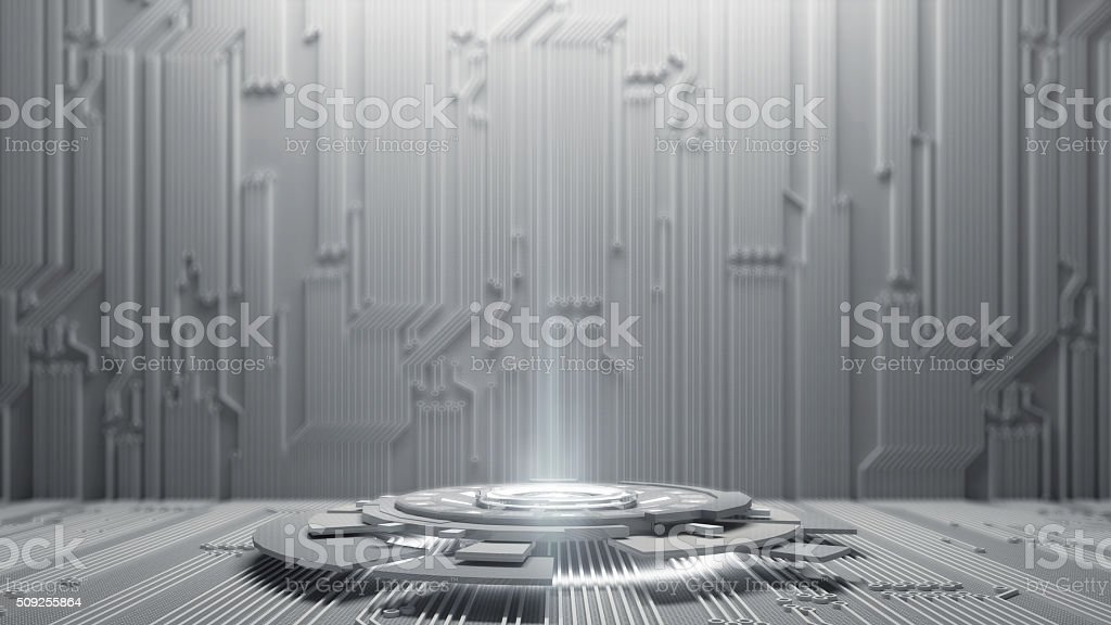Abstract HighTechnology Background.3d rendering stock photo