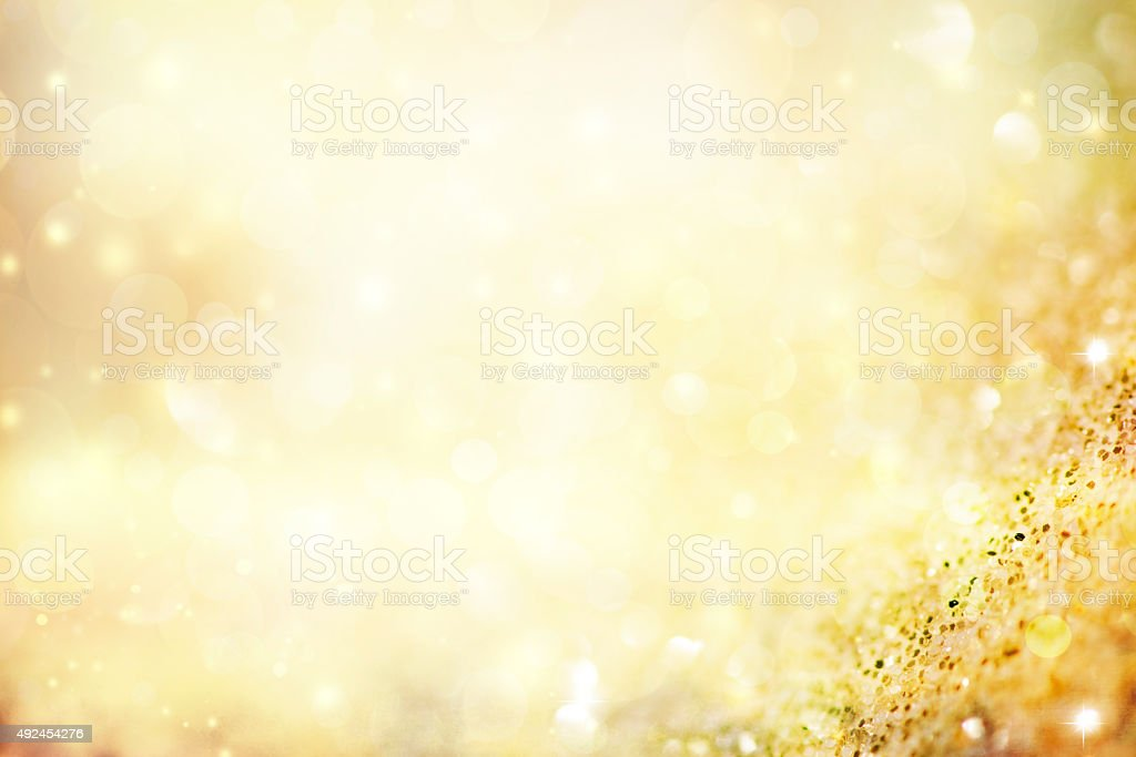 Abstract holiday background, beautiful shiny Christmas lights stock photo