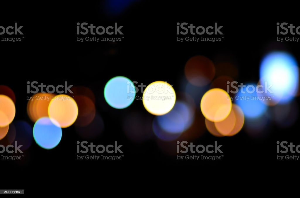 Abstract holiday lights bokeh defocused abstract background stock photo