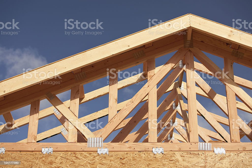 Abstract Home Construction Site stock photo