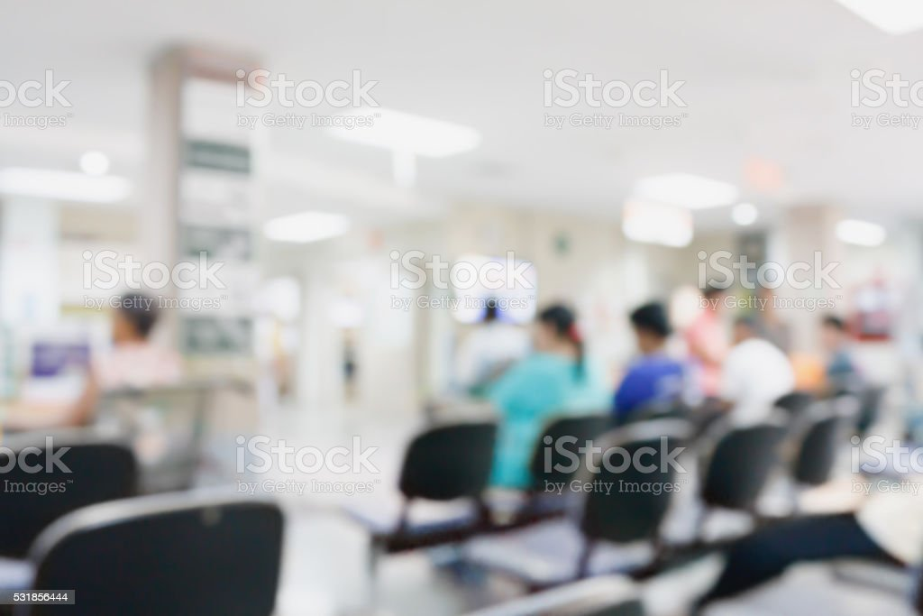 Abstract hospital blurred background stock photo