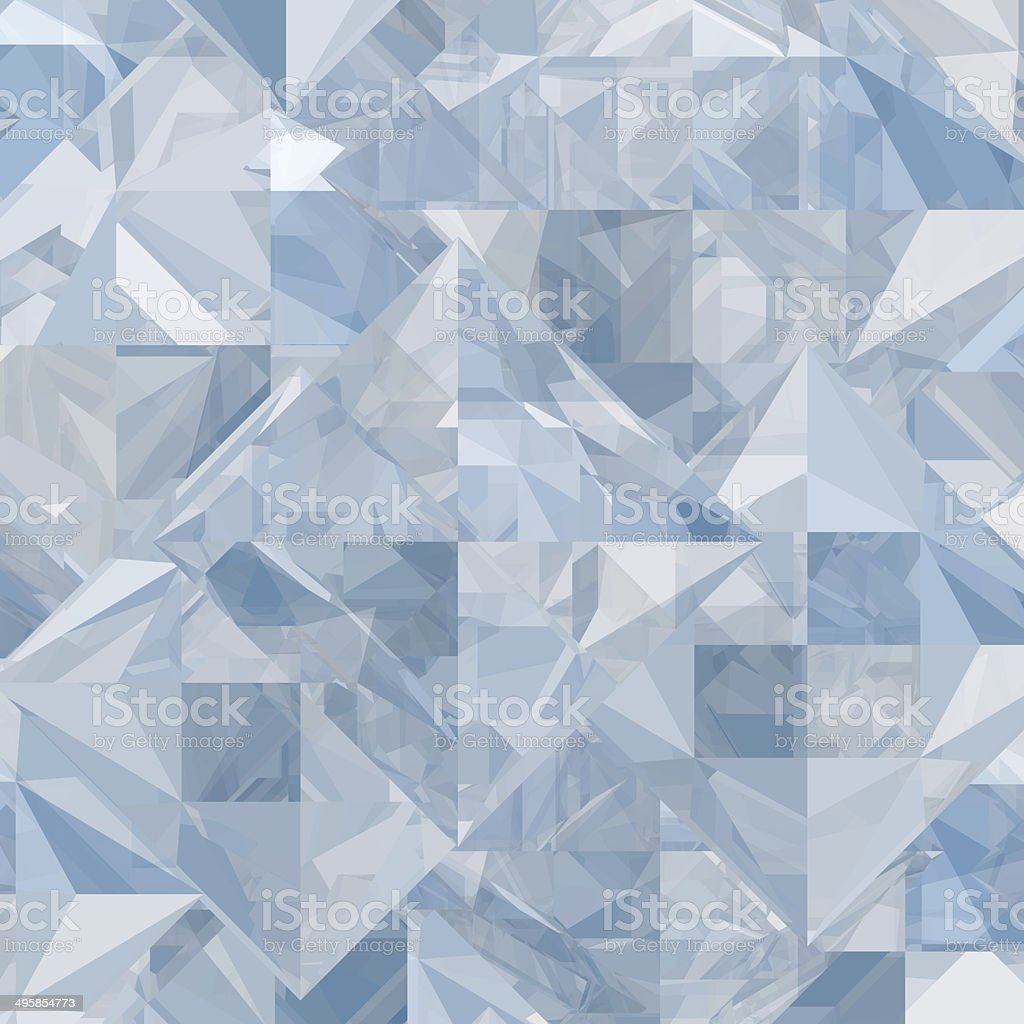 Abstract ice geometric background stock photo