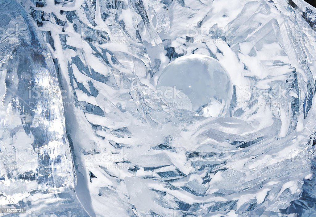 Abstract Ice Sculpture stock photo