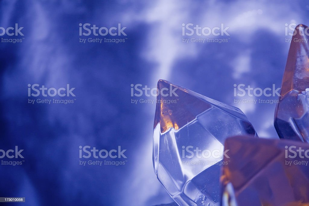 Abstract ice sculpture theme stock photo