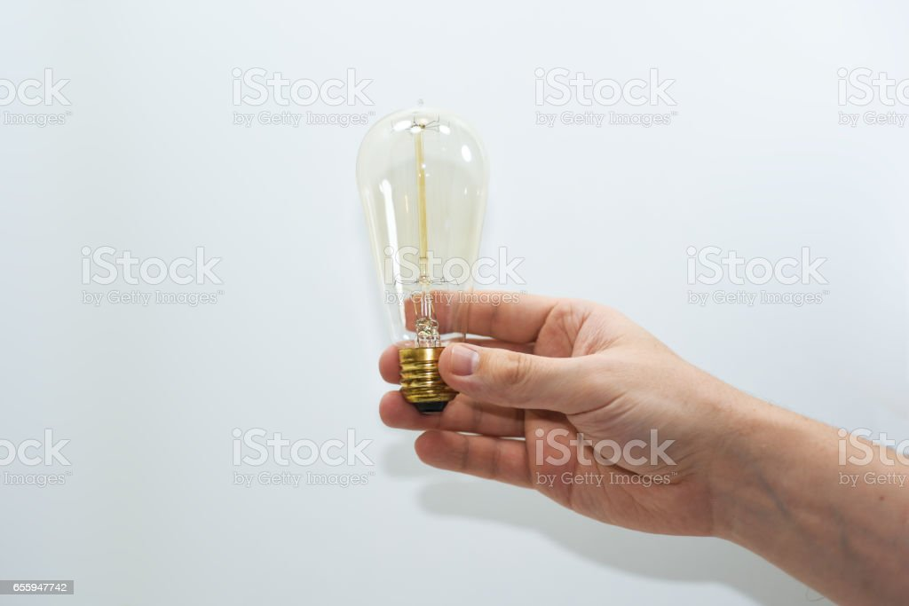 Abstract idea of electric lamp 35W. stock photo