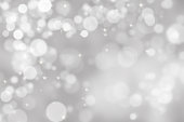 Abstract illustration bokeh light on gray background