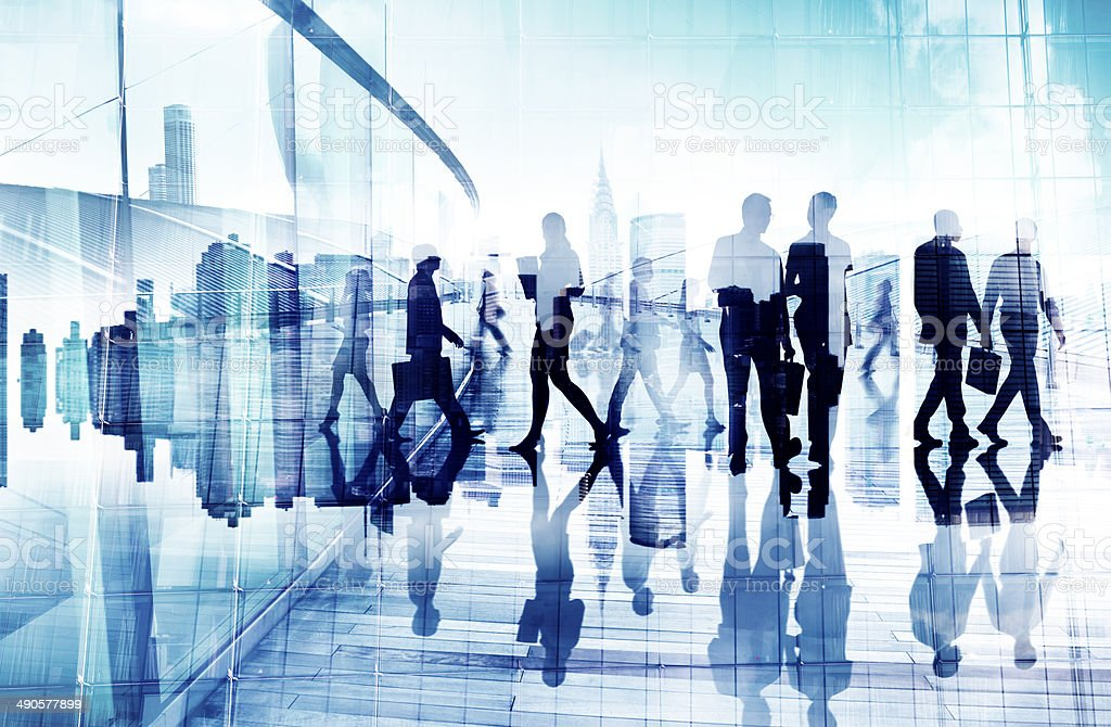 Abstract Image of Business People's Busy Life stock photo
