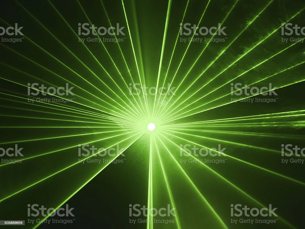 Abstract image of light show in disco stock photo