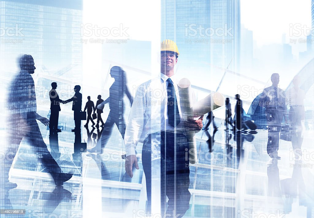 Abstract Image of Professional Busy People stock photo