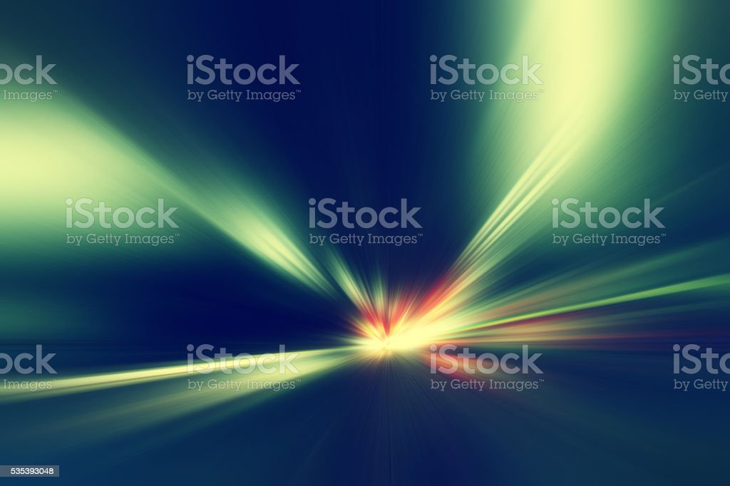 Abstract image of speed motion in the tunnel. stock photo