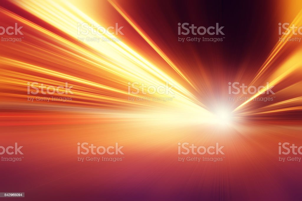 Abstract image of speed motion on the road. stock photo