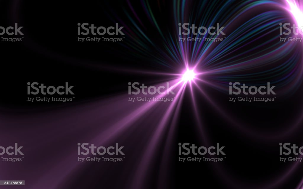 Abstract image of sun burst lighting flare stock photo