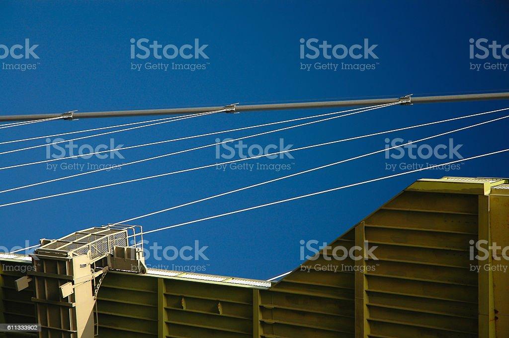 Abstract image of the Humber Bridge, England stock photo