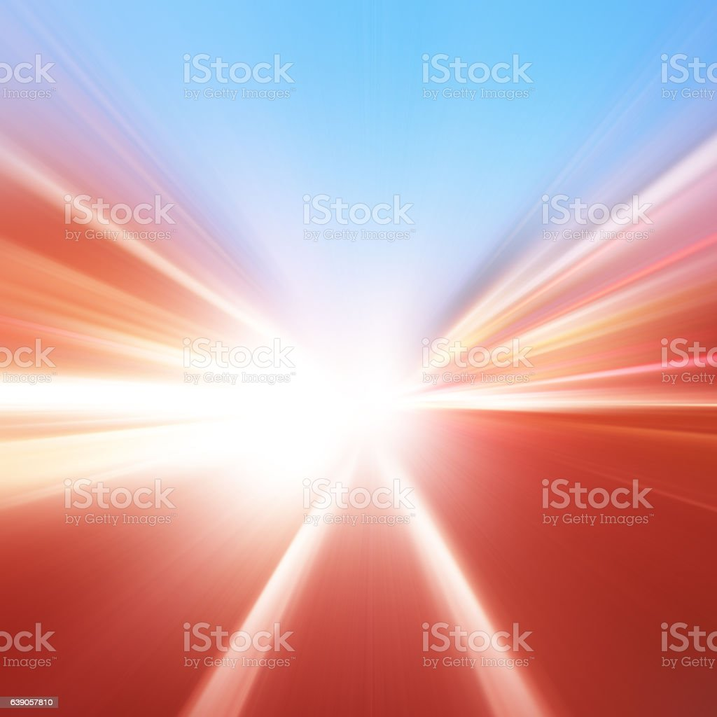 Abstract image of traffic lights with motion blur. stock photo