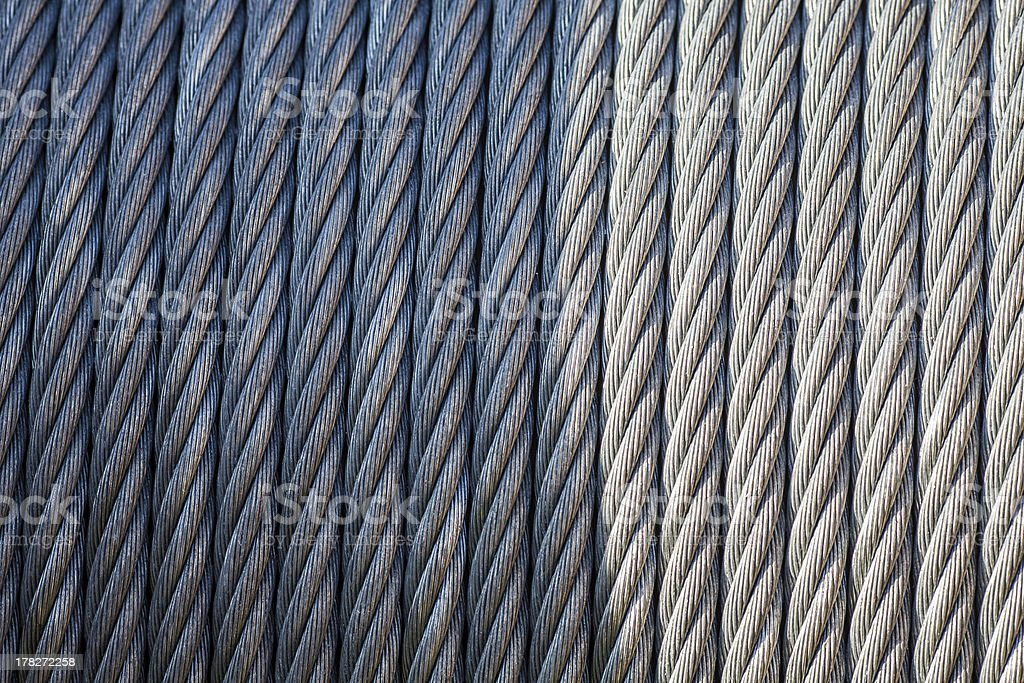 Abstract industrial steel cable royalty-free stock photo