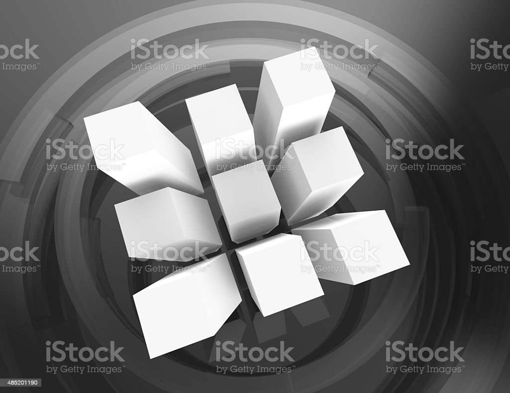 Abstract infographic cubes design stock photo