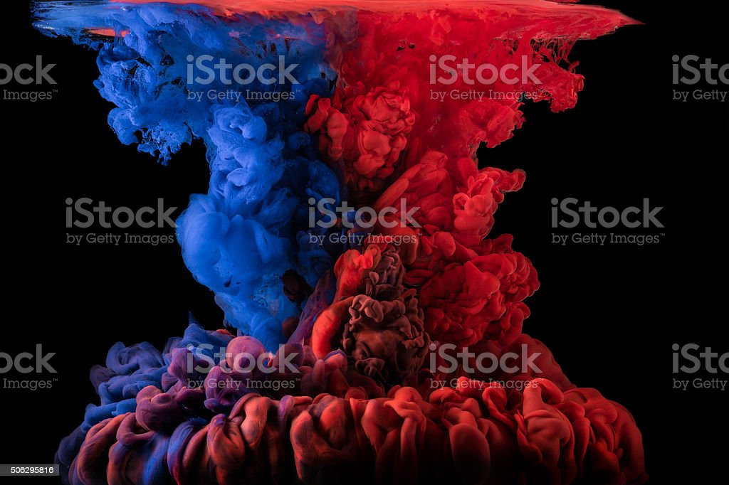 Abstract ink in water stock photo
