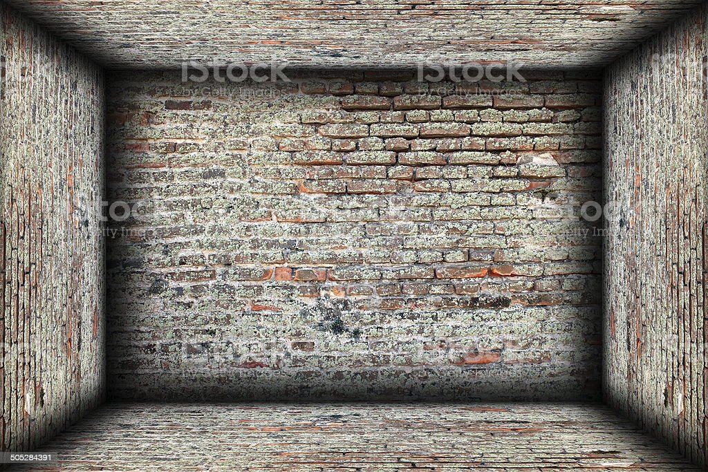 abstract interior brick finishing backdrop royalty-free stock photo