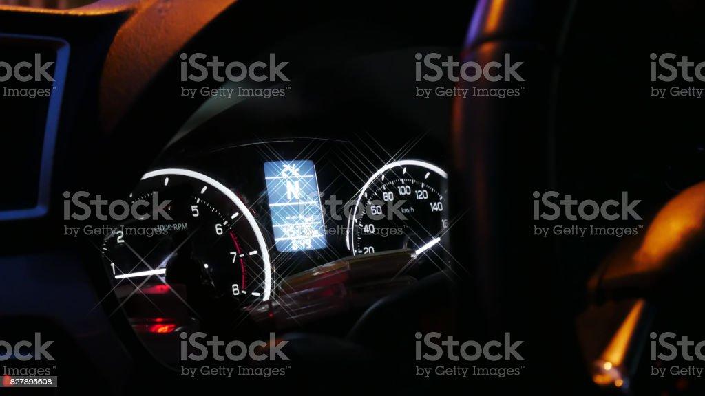 Abstract Interior car stock photo