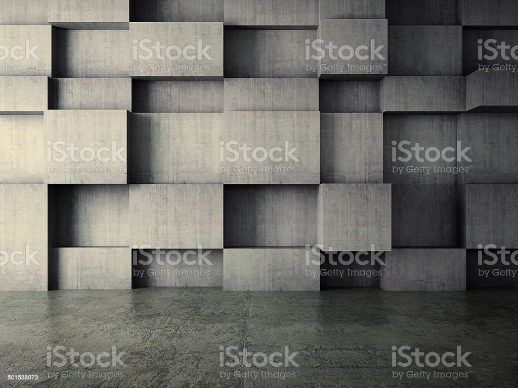 abstract interior of concrete wall background stock photo