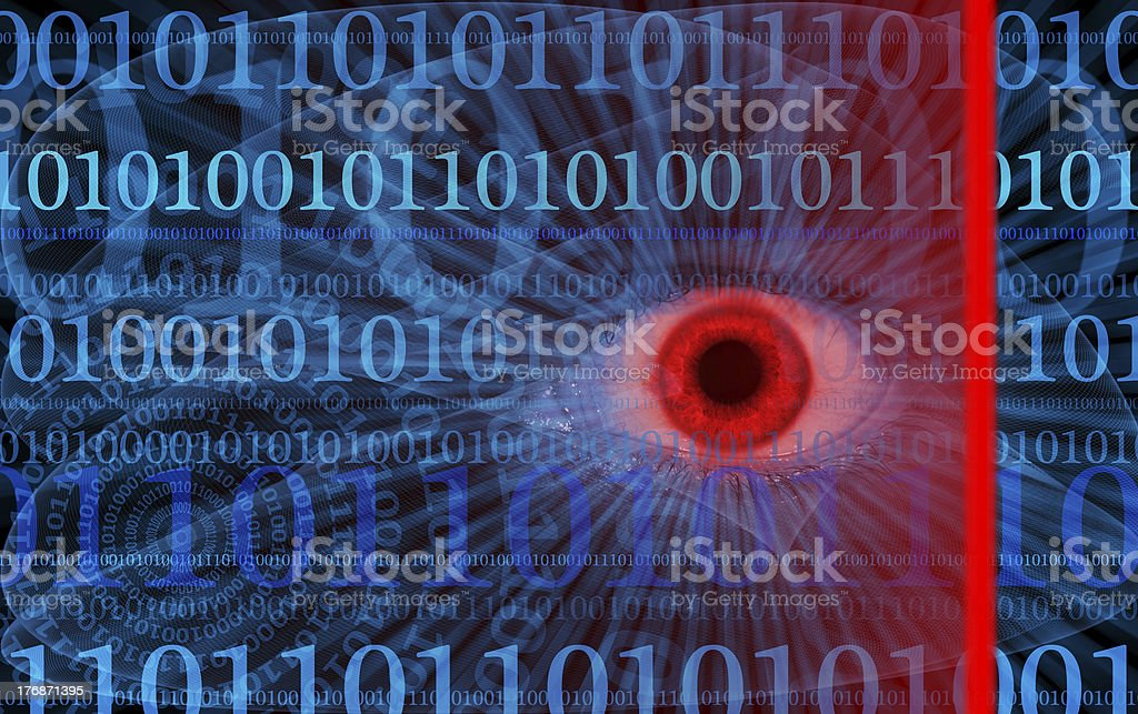 Abstract internet security illustration royalty-free stock photo