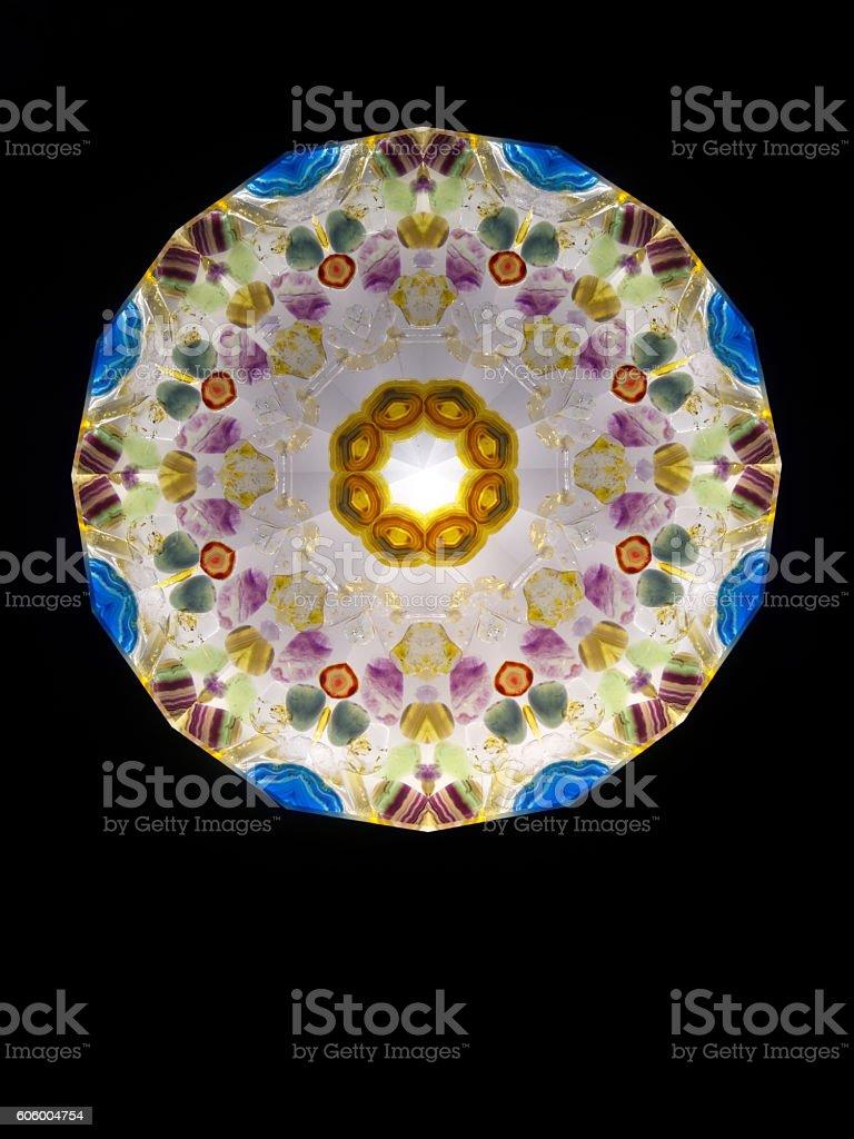 abstract kaleidoscope flower shaped stock photo