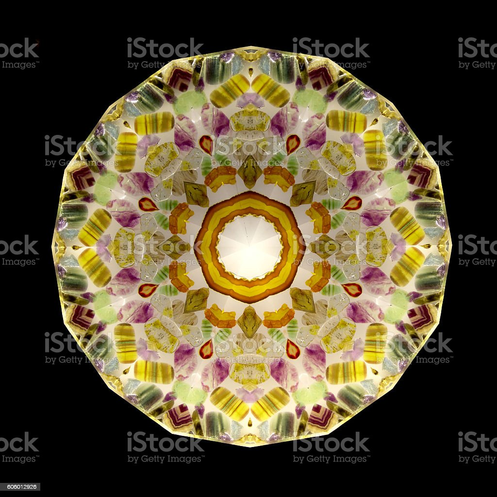 abstract kaleidoscope flower shaped stock photo