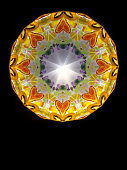 abstract kaleidoscope heart shaped